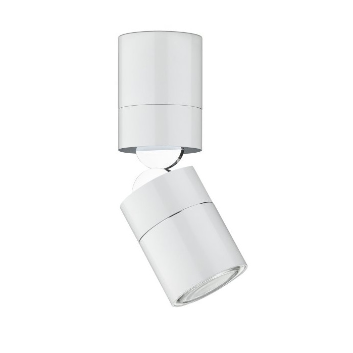 Stage Spotlight 37cm short adjustable QR-111 12V - Lacquered white matt