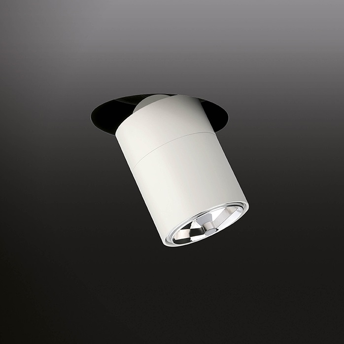 Stage Spotlight semiRecessed 17cm short E27 PAR30 - Lacquered white matt