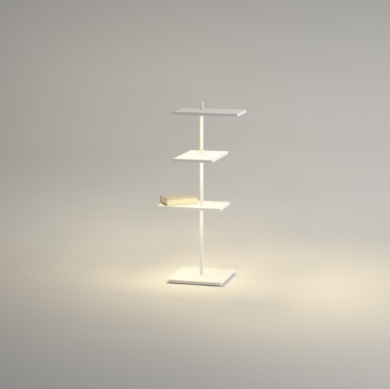Suite Floor Lamp Small - Lacquered white Mate