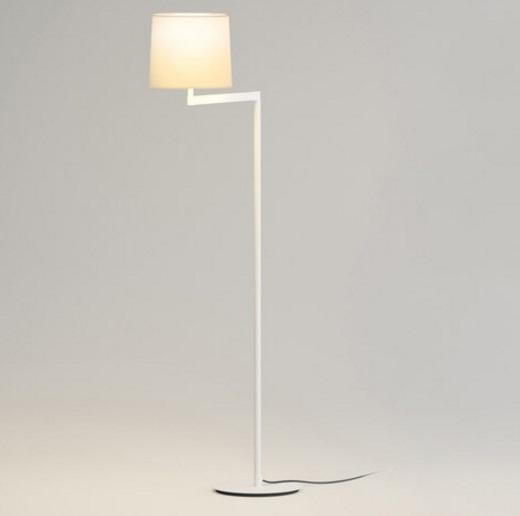 Swing Floor Lamp with lampshade Cream - Lacquered white matt