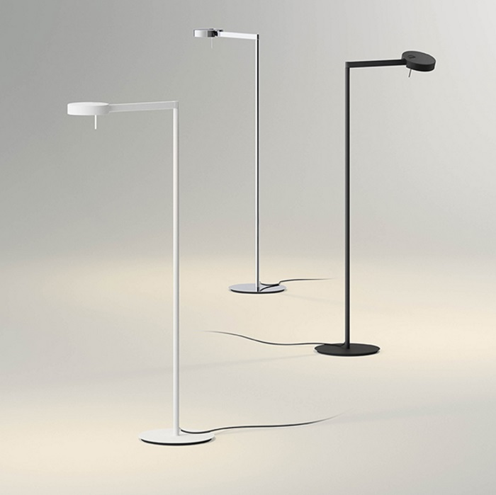 Swing Floor Lamp LED 1x5,25w Diffuser adjustable - Lacquered white matt