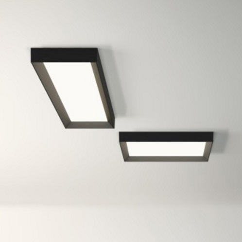 Up ceiling lamp Square 1 x plate LED 50w - Lacquered Graphite mate