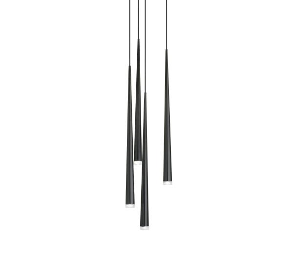 Slim Pendant Lamp 4xLED 3w 700mA - Black