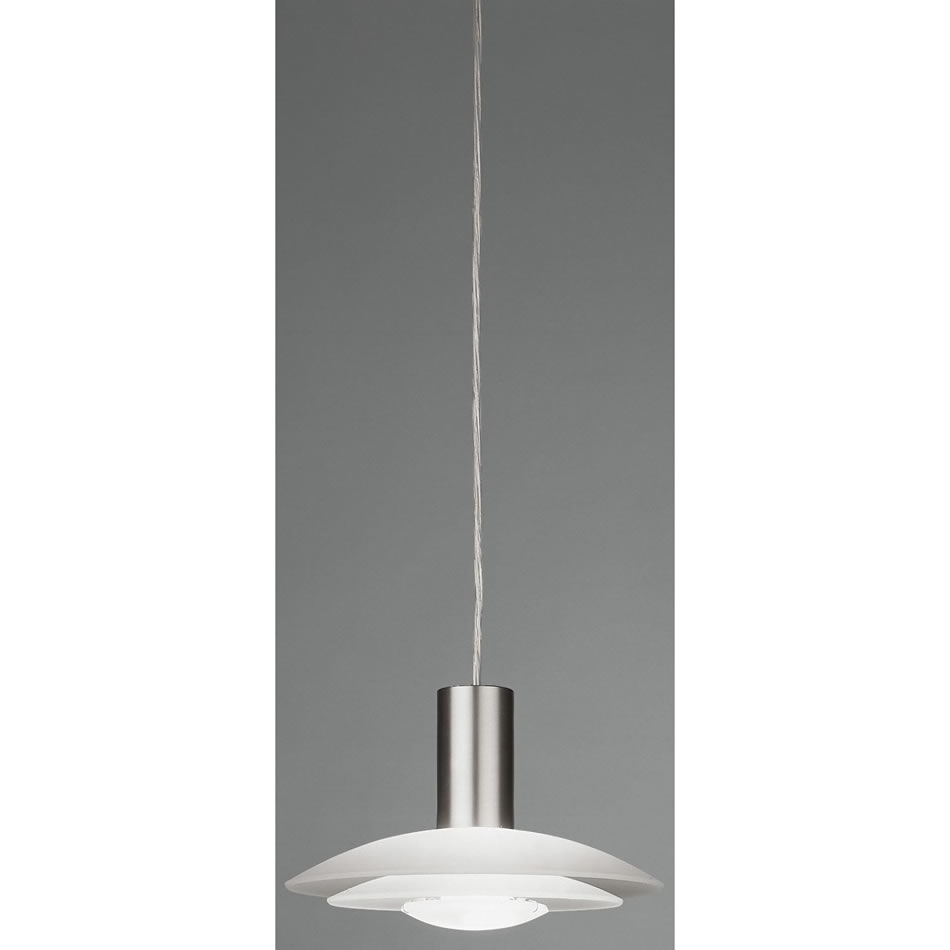Lotto mini Pendant Lamp Nickel Satin