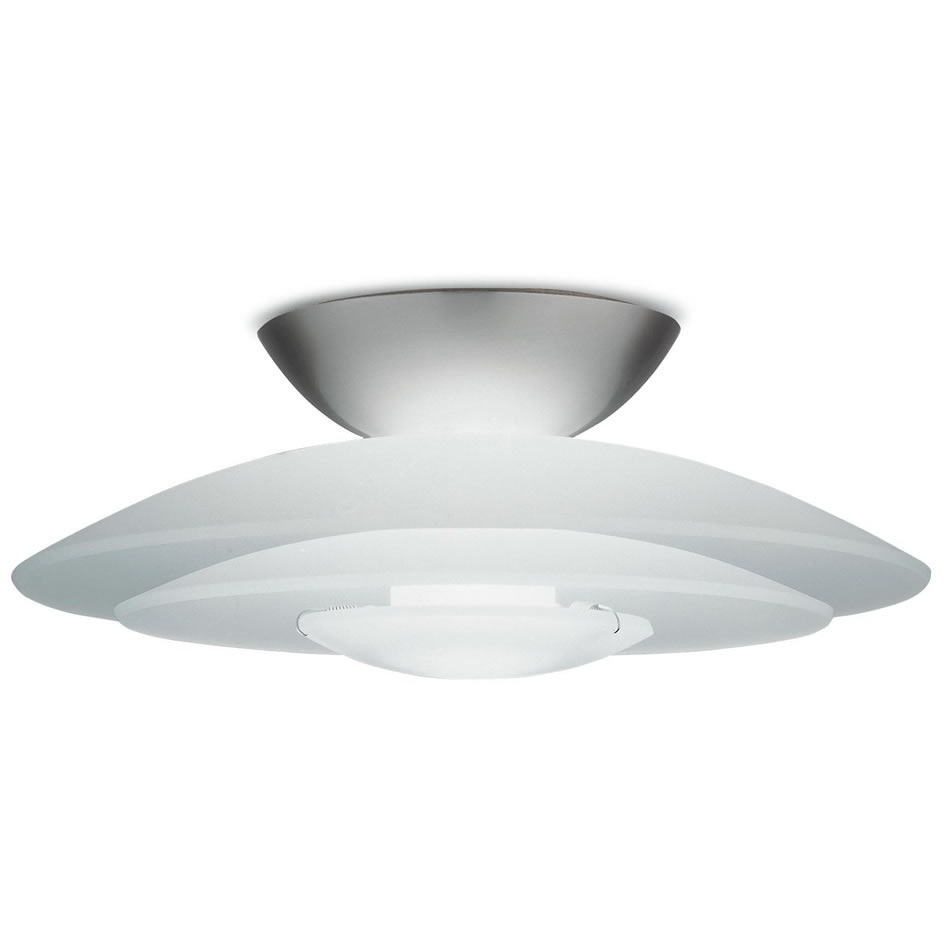 Lotto mini ceiling lamp Round Nickel Satin