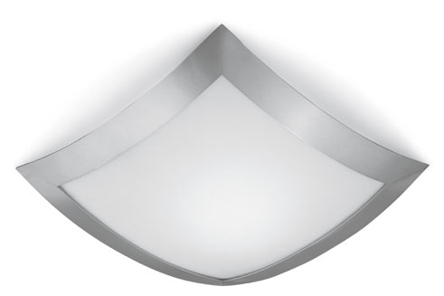 Quadra Marc ceiling lamp 32x32 Chrome