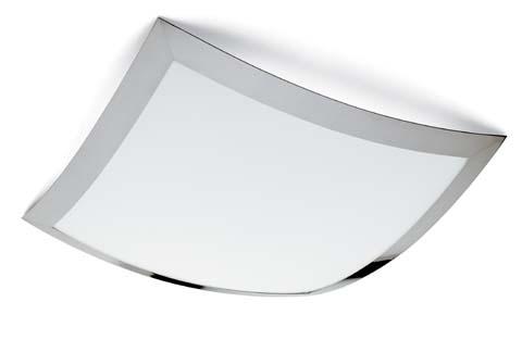 Quadra Marc Maxi ceiling lamp 62x62 Fluorescent Chrome