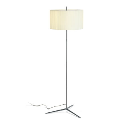 Plis Floor Lamp Chrome/lampshade Beige