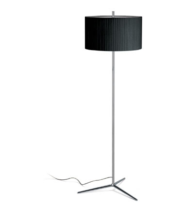 Plis Floor Lamp Chrome/lampshade black