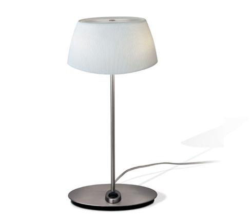 Aina Lampe de table Petite Nickel Satin