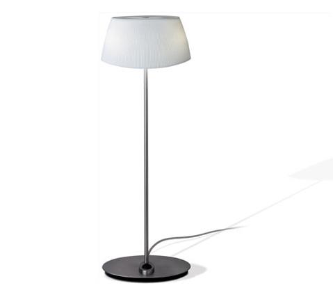Aina Lampe de table Grand Nickel Satin