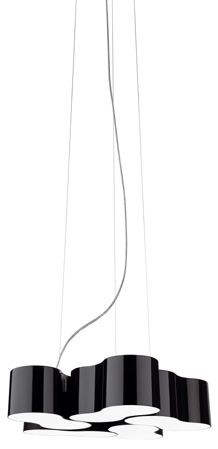 Eight Lámpara Colgante quintuple negro