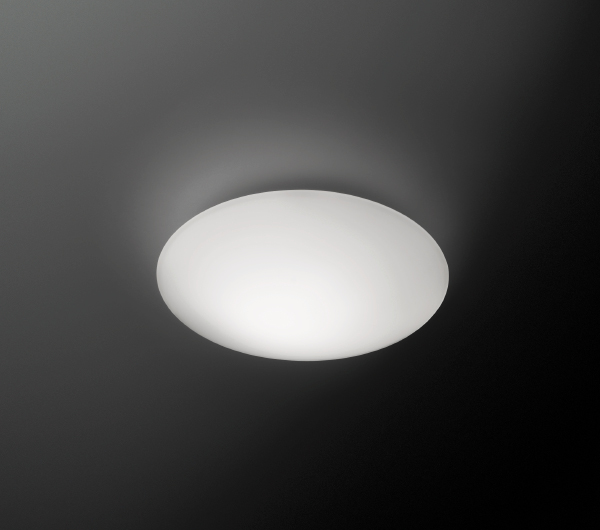 Puck Single Ceiling lamp ø24,4cm Fluorescent in white
