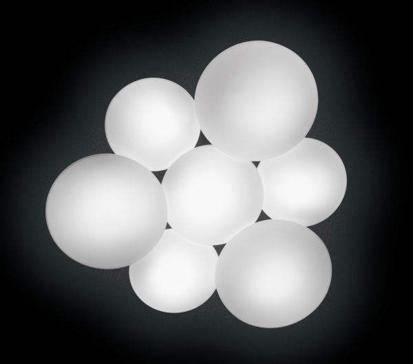 Puck Ceiling lamp 7 units 7xLED 7,35W Lacquered matt white