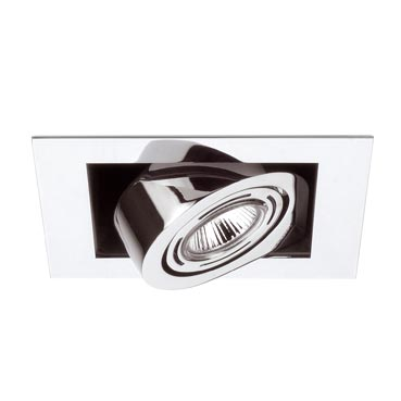 Corner Recessed Small Single 1xLED o QR chromed