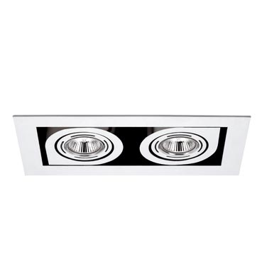 Corner Recessed Small Doble 2xLED o QR chromed