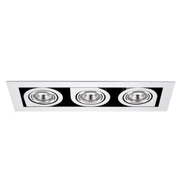 Corner Recessed Small triple 3xLED o QR chromed