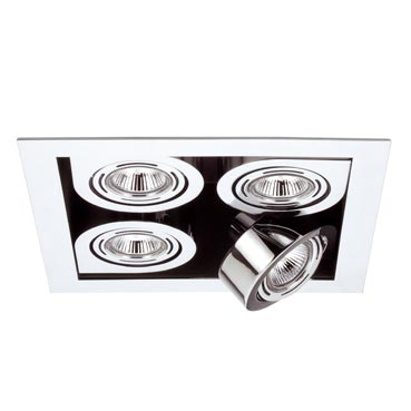 Corner Recessed Small quadruple 4xLED o QR chromed