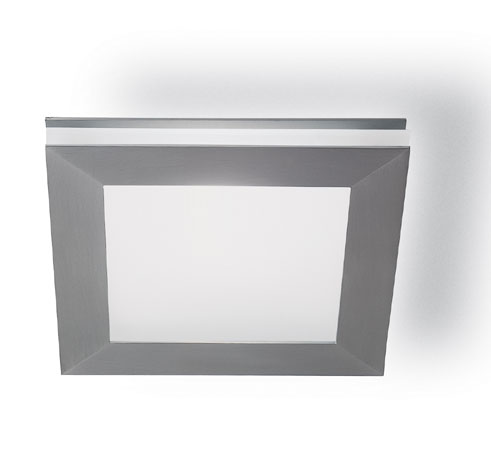 Sandwich mini plafón/Wall Lamp Square Nickel mate