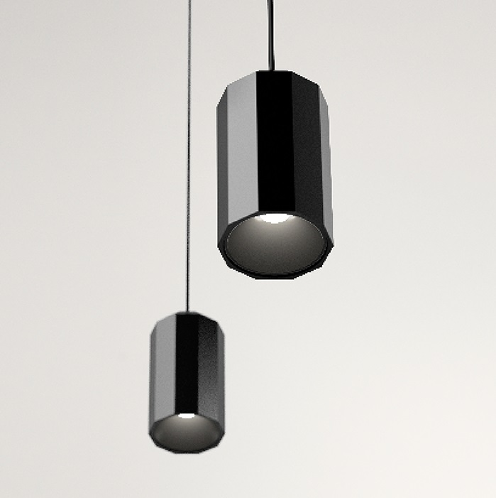 Wireflow FreeForm Pendant Lamp 200cm 1xLED 4,5W dimmable (without Diffuser of vidrio) - Lacquered Black