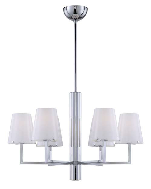 Tube Pendant Lamp Chrome 6L