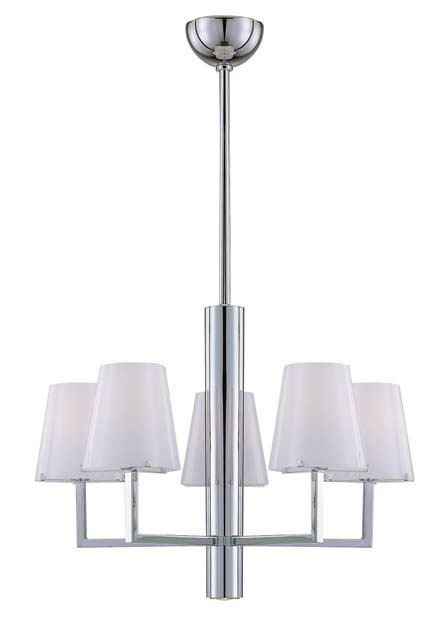 Tube Pendant Lamp Chrome 5L