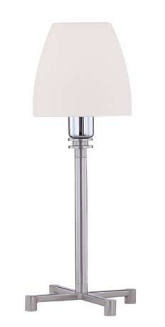 Bell Table Lamp Nickel Satin