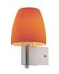 Bell Wall Lamp Nickel Satin/Naranja