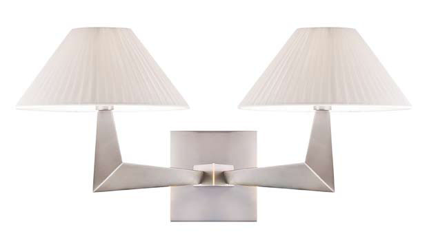 Alexandría Wall Lamp G Nickel Satin 2L