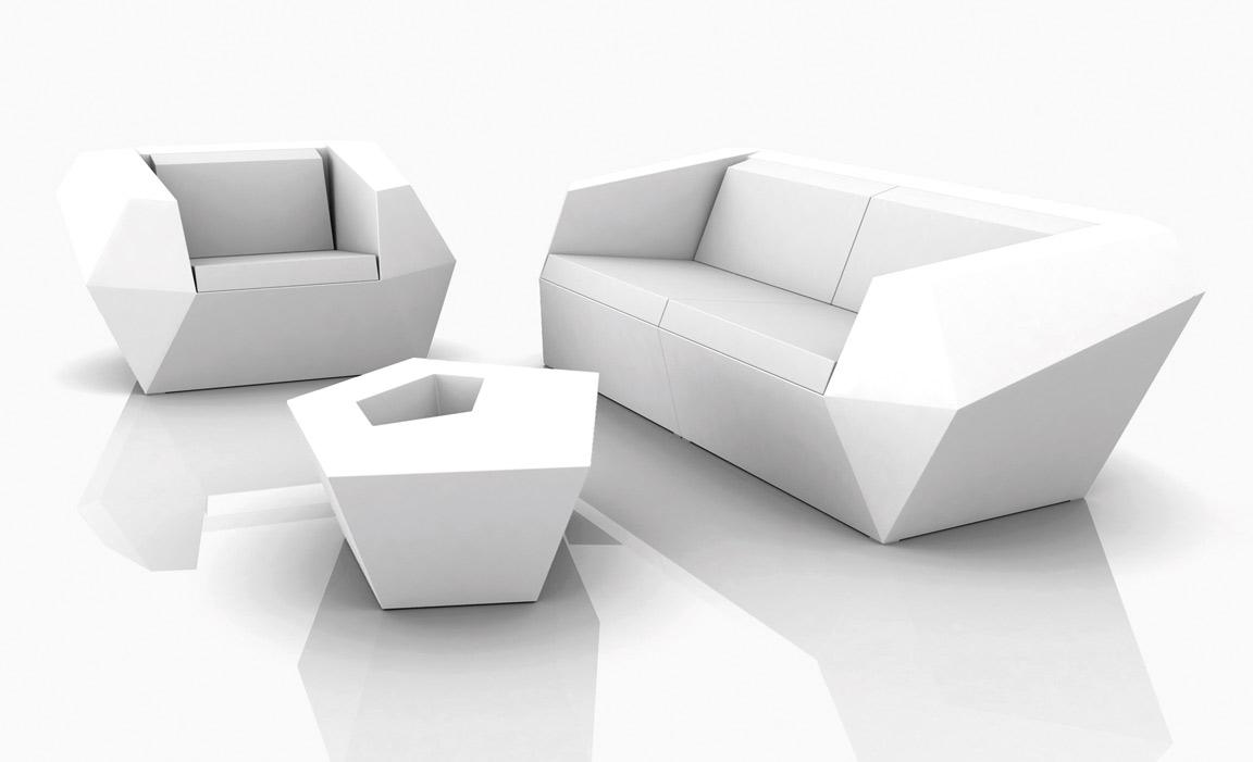 Faz tisch Sofa 110cm ohne licht Acabado Mate