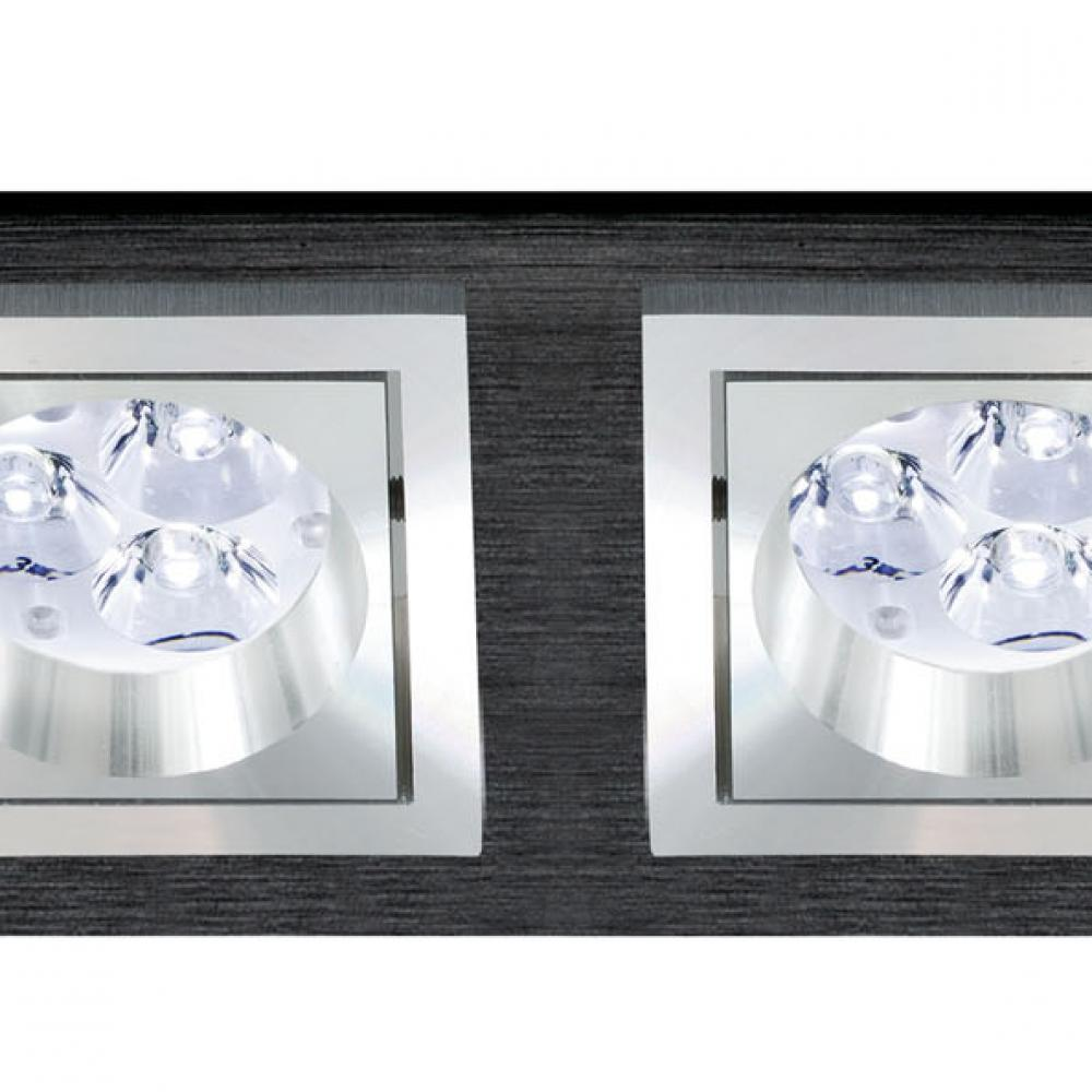 bpm lighting 3068 empotrable rectangular de 2 luces 3058. Black Bedroom Furniture Sets. Home Design Ideas