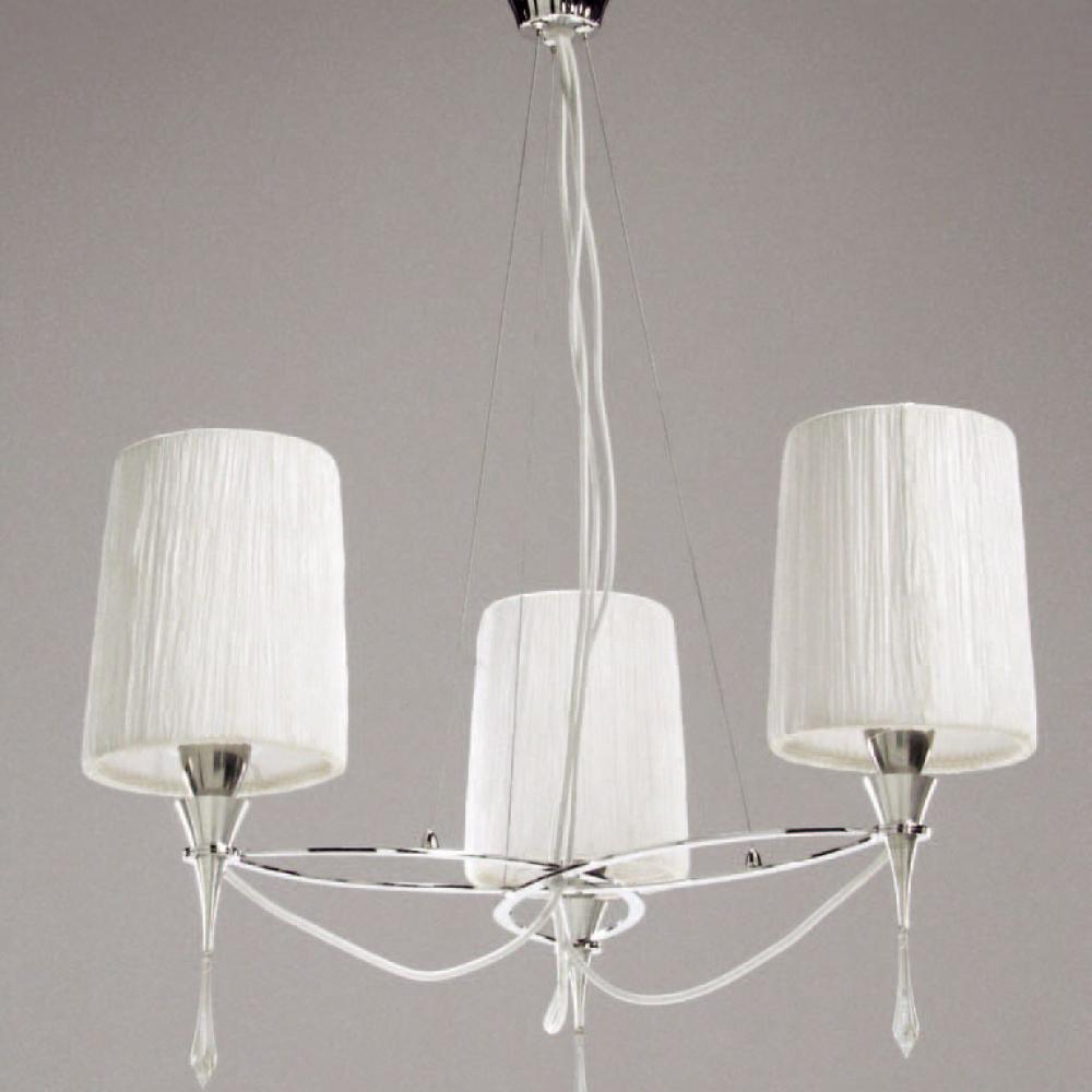 Mantra siena l mpara colgante cromo blanco 3l 1313 - Diseno lamparas colgantes ...