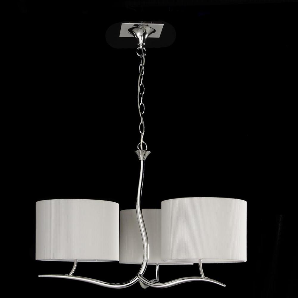 Mantra Eve Pendant Lamp Chrome/Cream 3L 1131