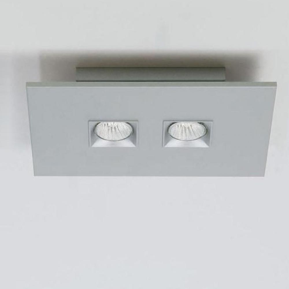 Polifemo Plafón rectangular 39cm Gu10 2x75w Lacado blanco