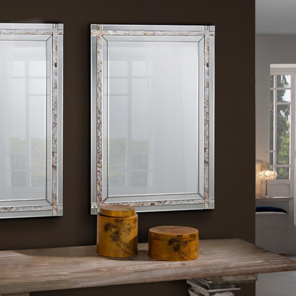 Schuller nacar espejo rectangular con luna 286429 l mparas de dise o - Espejos con diseno ...