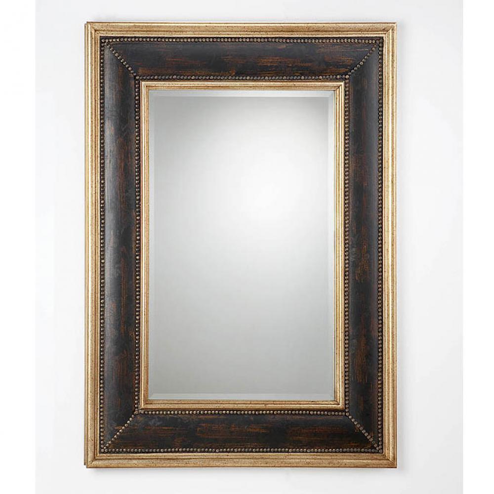 Schuller espejo rectangular marco negro 310315 l mparas for Espejo rectangular