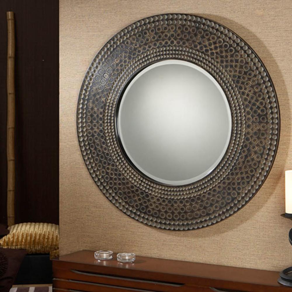 Schuller espejo r stico redondo 343011 l mparas de dise o for Lamparas para espejos