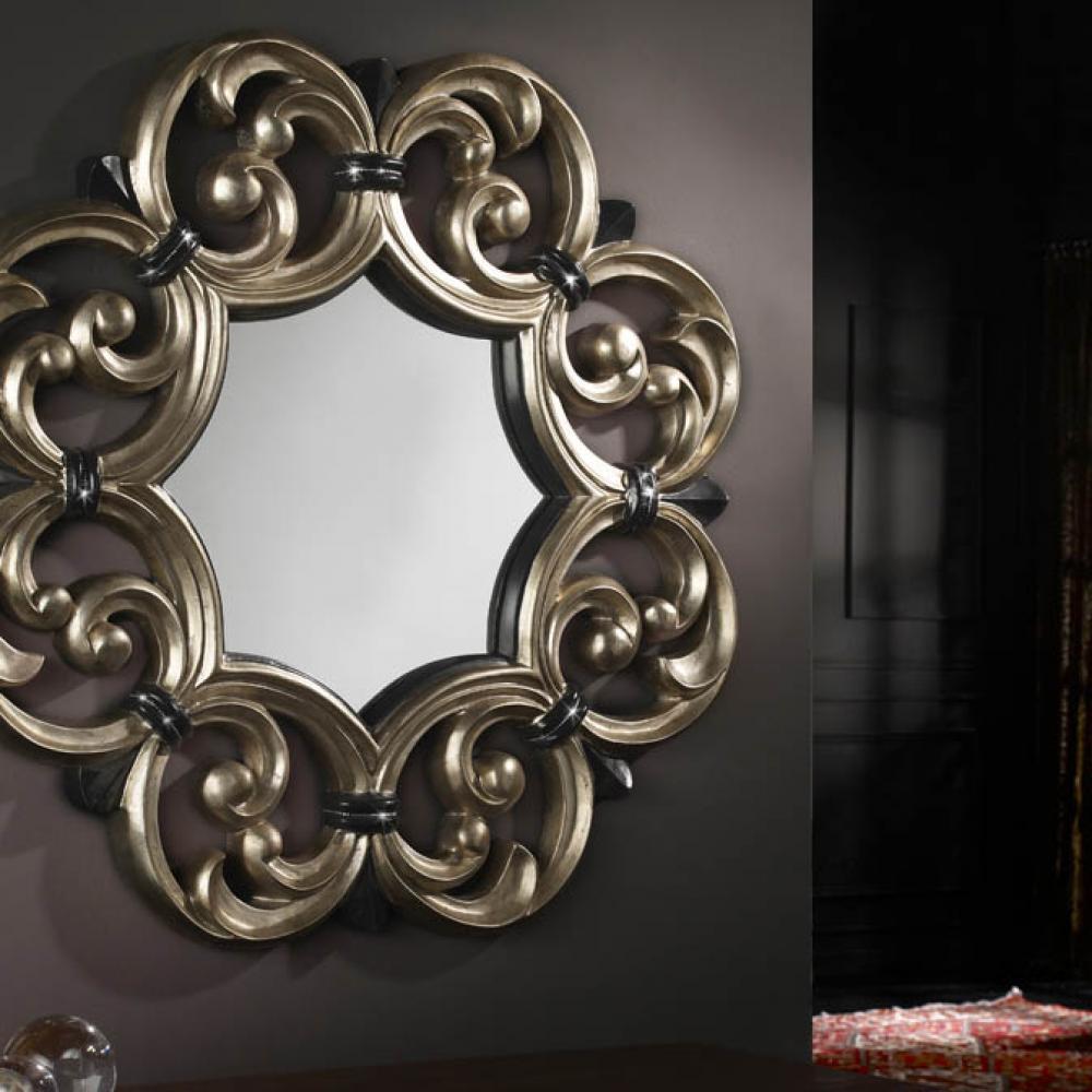 Schuller espejo moldura calado strass plata 374323 for Molduras para espejos online