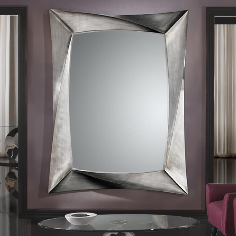 Schuller espejo cuadrado pan de plata grande 681794 for Espejos cuadrados grandes