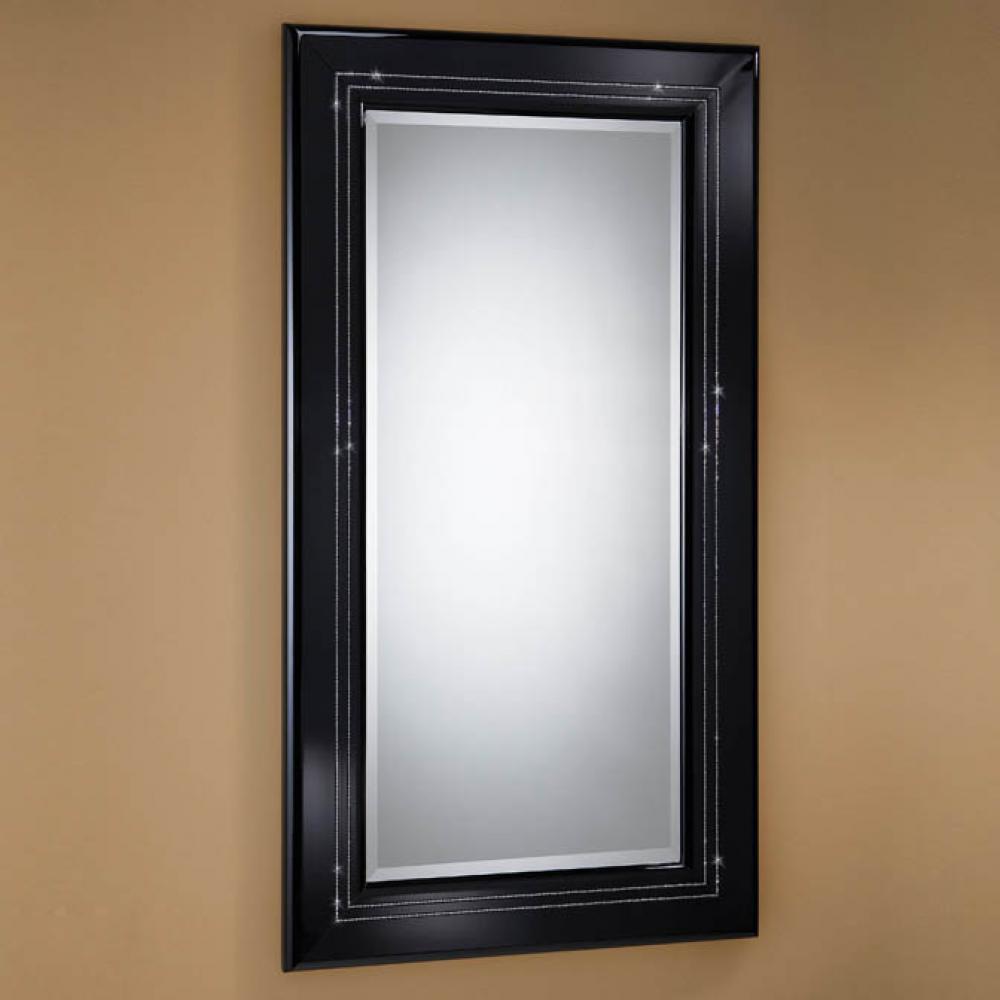 Schuller luxury espejo rectangular grande negro 71401046 - Lamparas para espejos ...