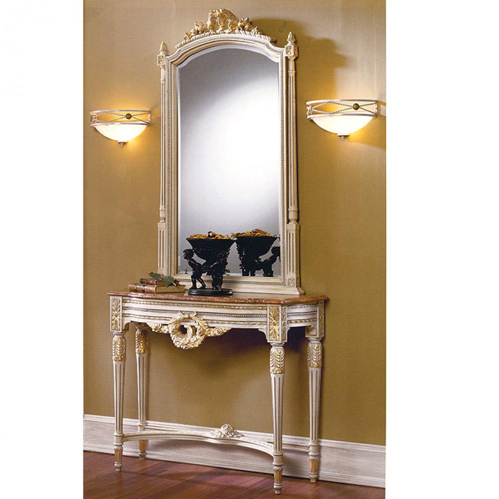 Schuller consola con espejo patinado franc s 73381626 2117 for Lamparas para espejos
