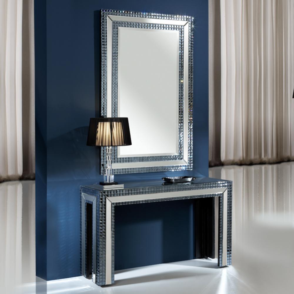 Schuller brooklyn espejo rect ngulo indigo 121932 - Lamparas para espejos ...