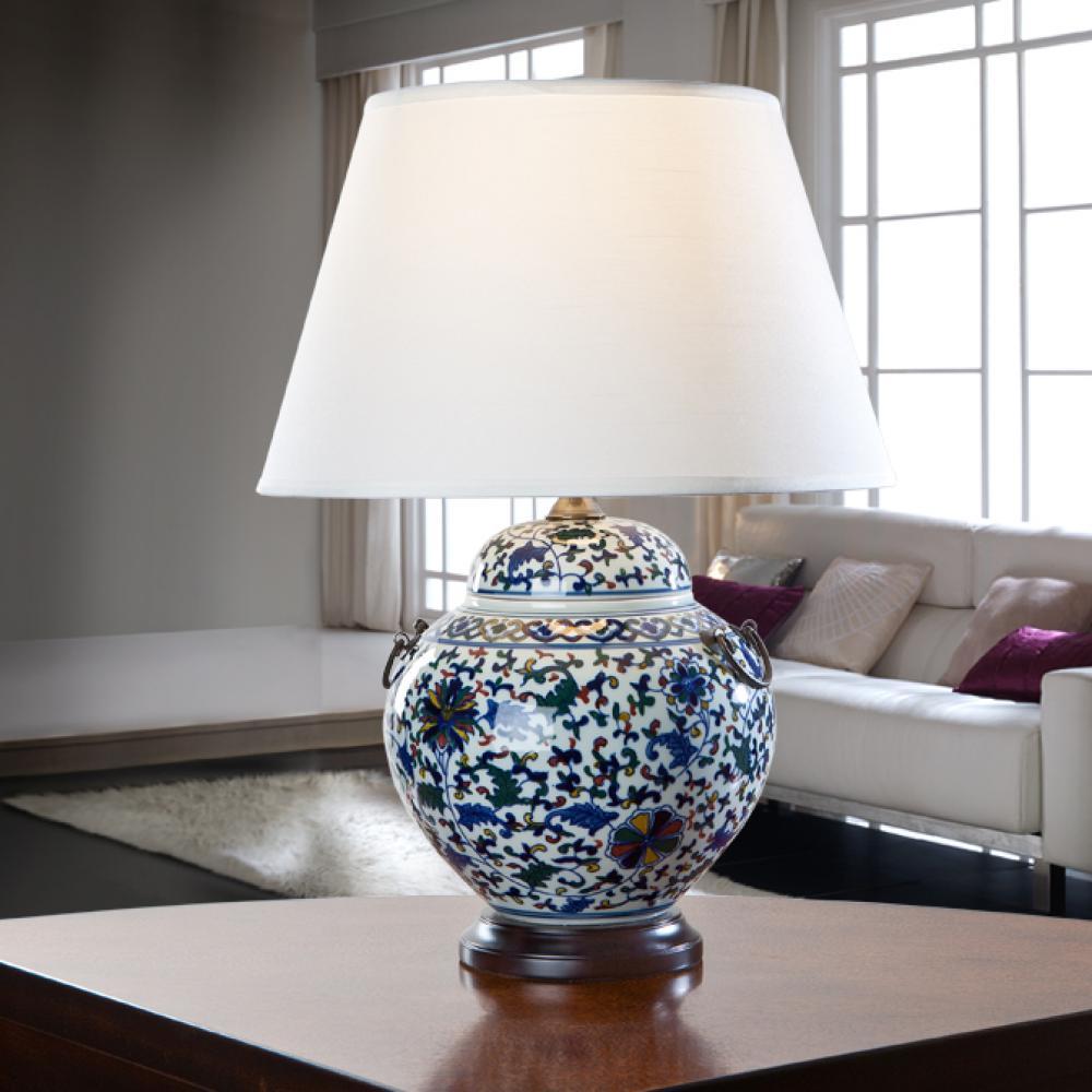 Schuller keramik tischleuchte mit lampenschirm 538112 7419 l mparas de dise o - Keramik tischleuchte ...