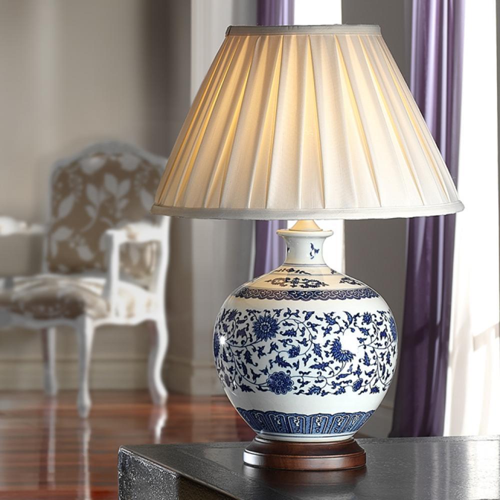 Schuller Ceramica Lampada da tavolo bianca Blu 660719 7381
