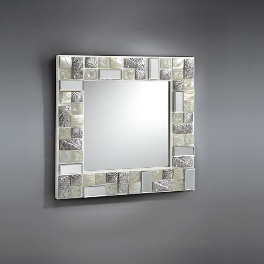 Schuller mosaic espejo 60x60 blanco plata 721811 - Lamparas para espejos ...