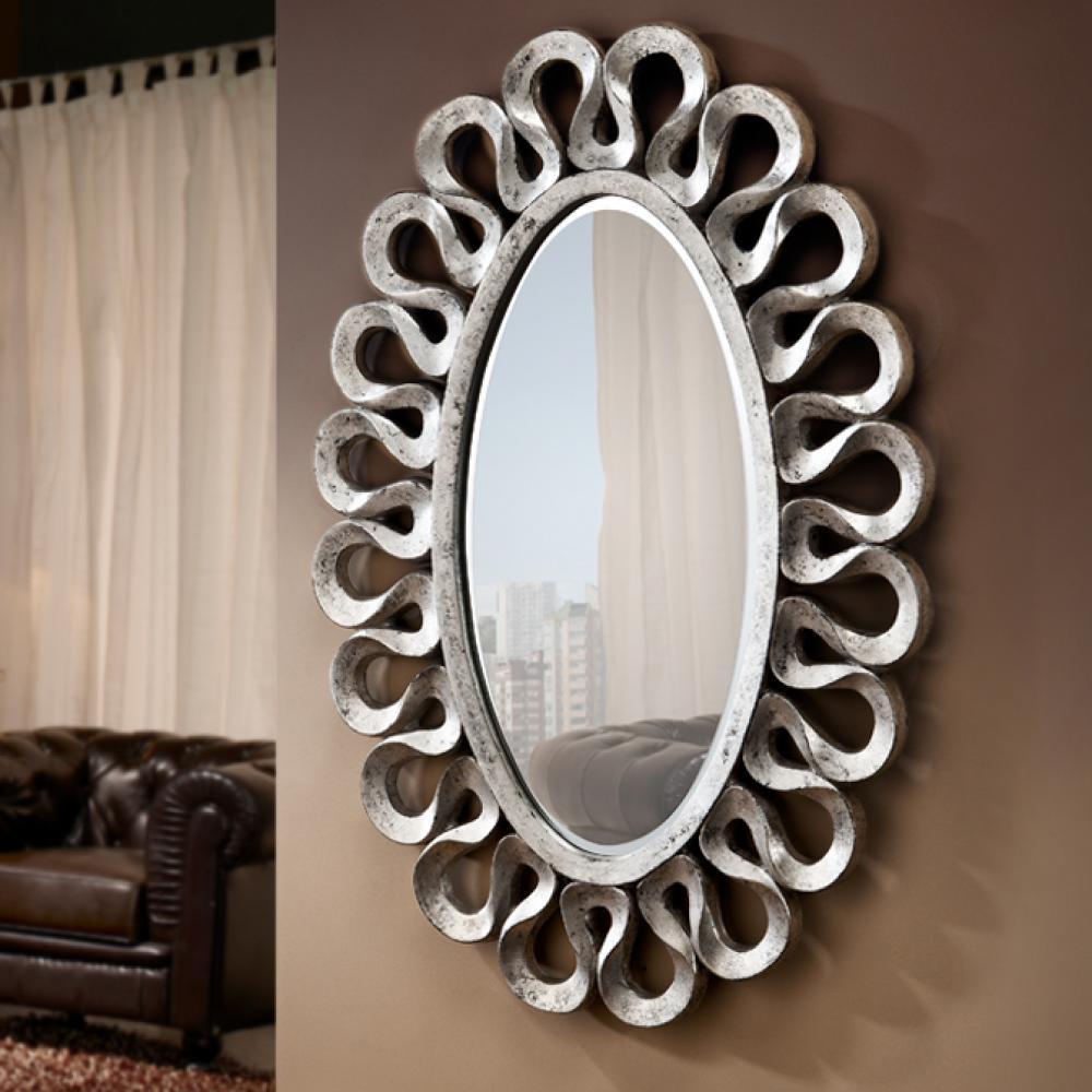 Schuller leo espejo ovalado plata 780347 l mparas de dise o for Espejo ovalado plata