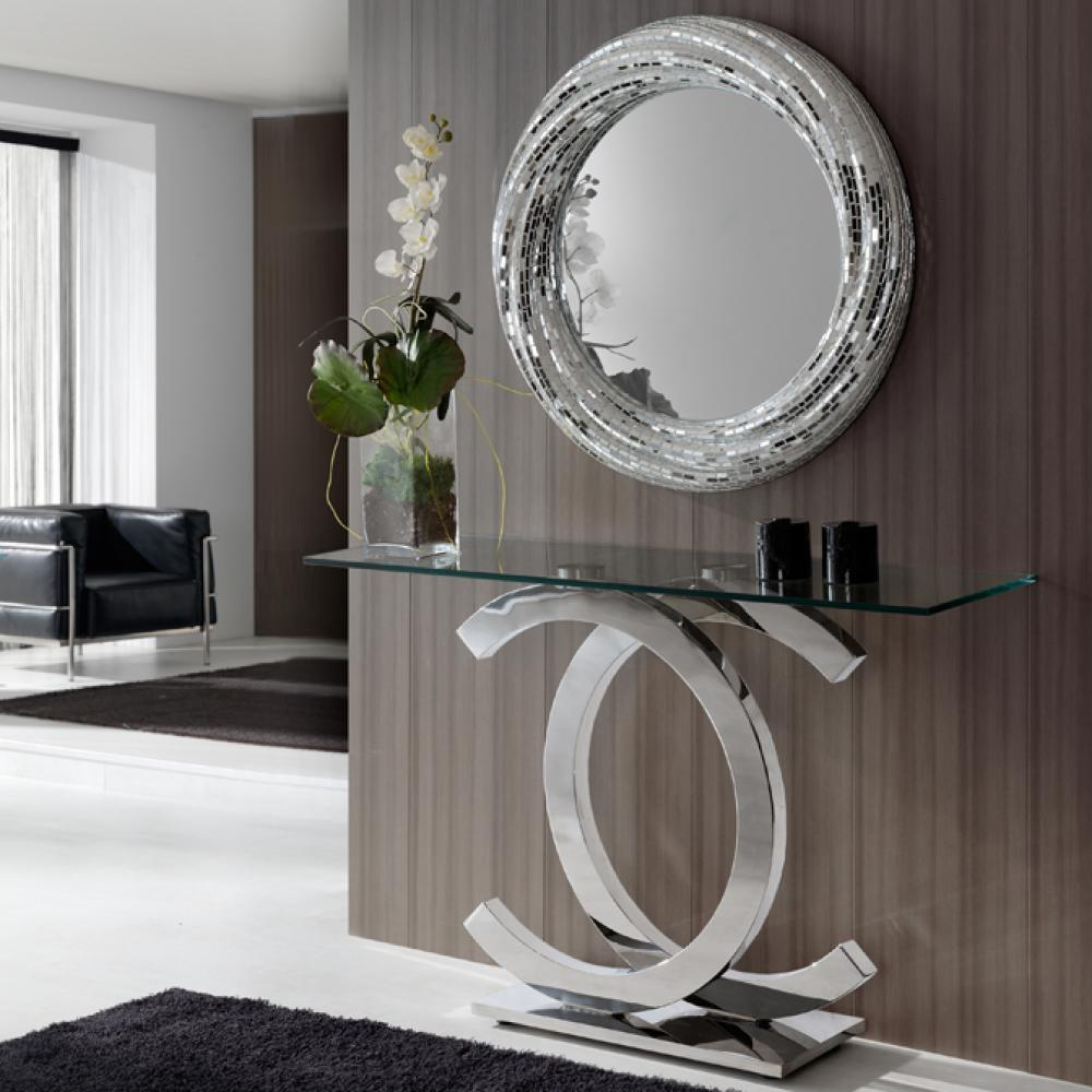 schuller calima konsole edelstahl glas 821437 l mparas de dise o. Black Bedroom Furniture Sets. Home Design Ideas