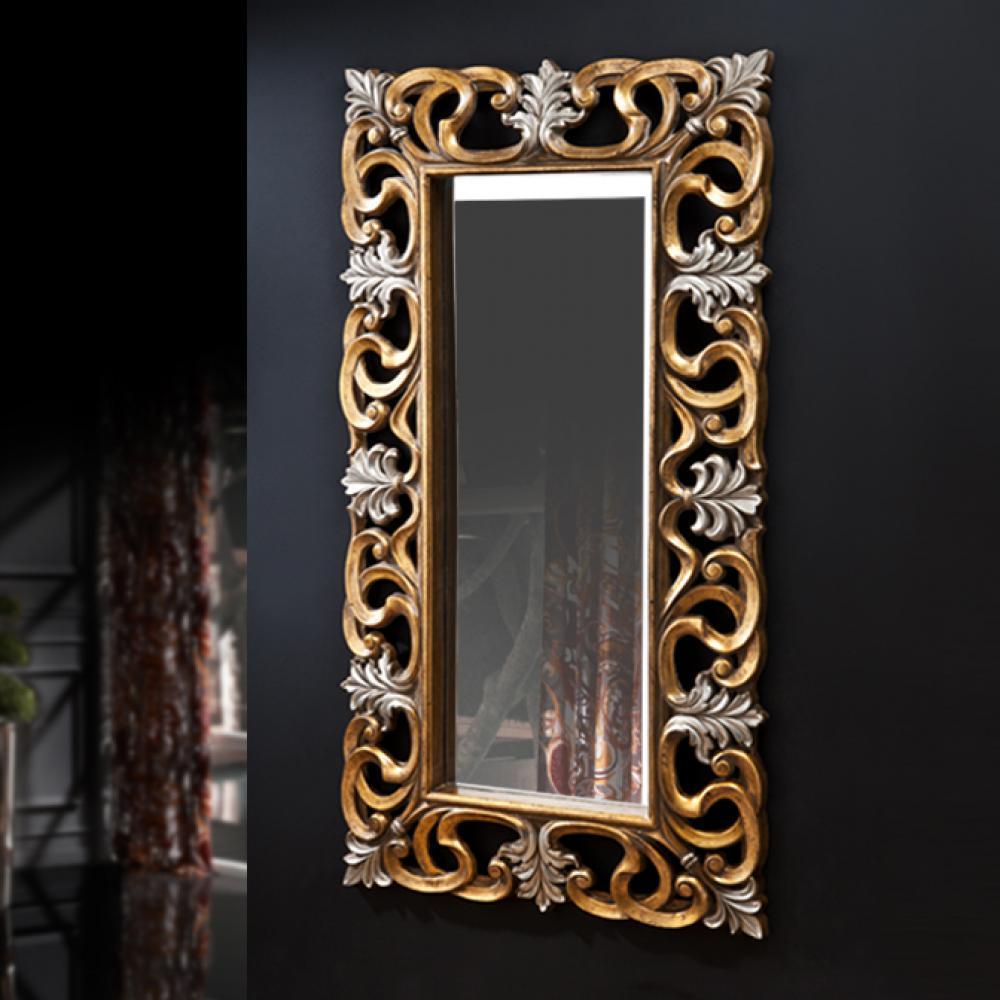 Schuller julia miroir rectangulaire or argent 884913 for Schuller miroir