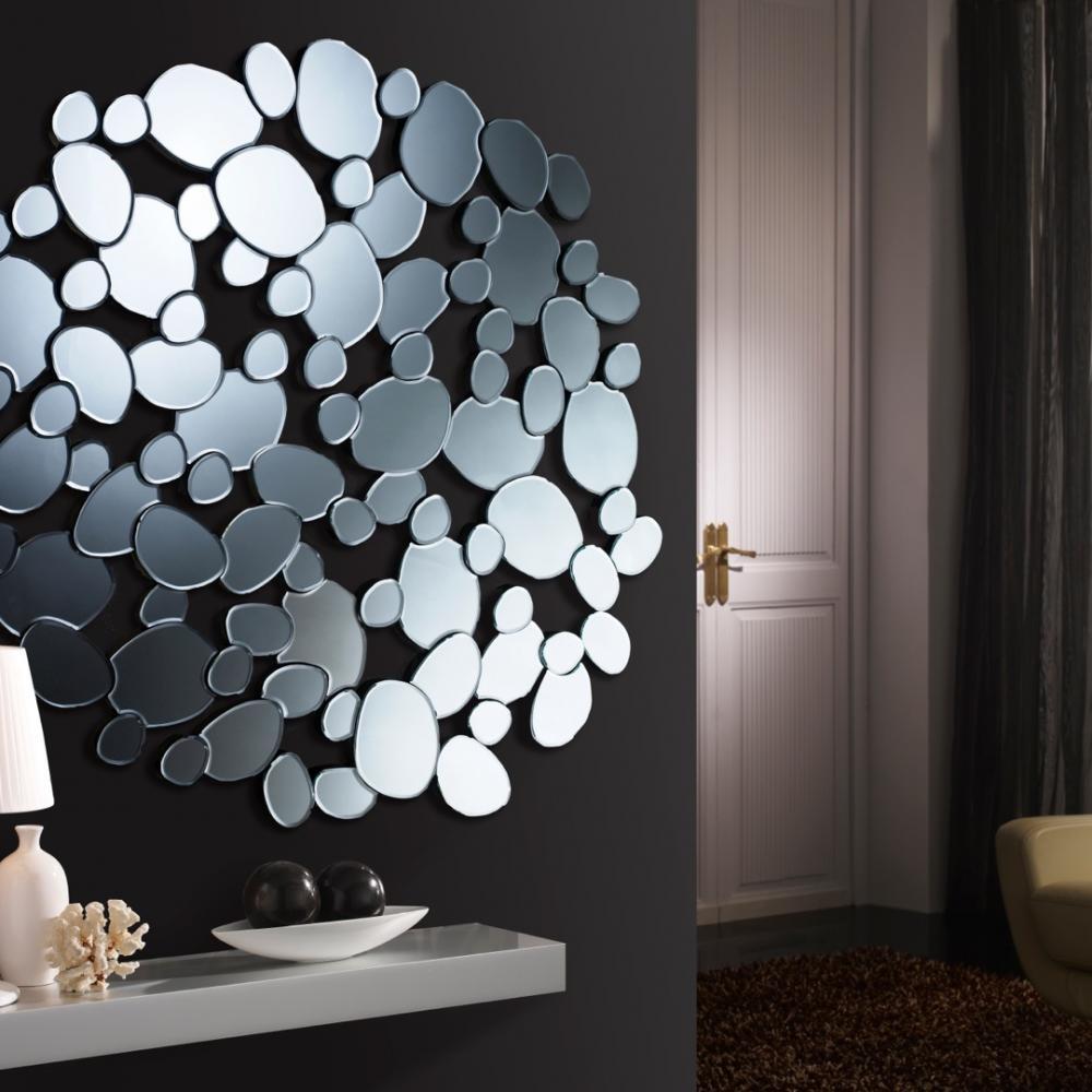 Schuller petra espejo redondo grande 384818 l mparas de for Espejos redondos grandes