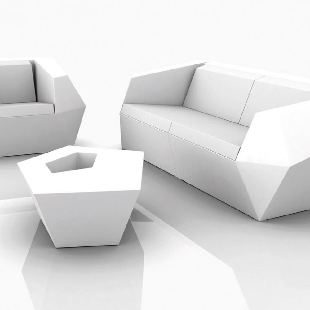 Vondom faz table sofa 110cm without light 54007f for Sofa 400 euro